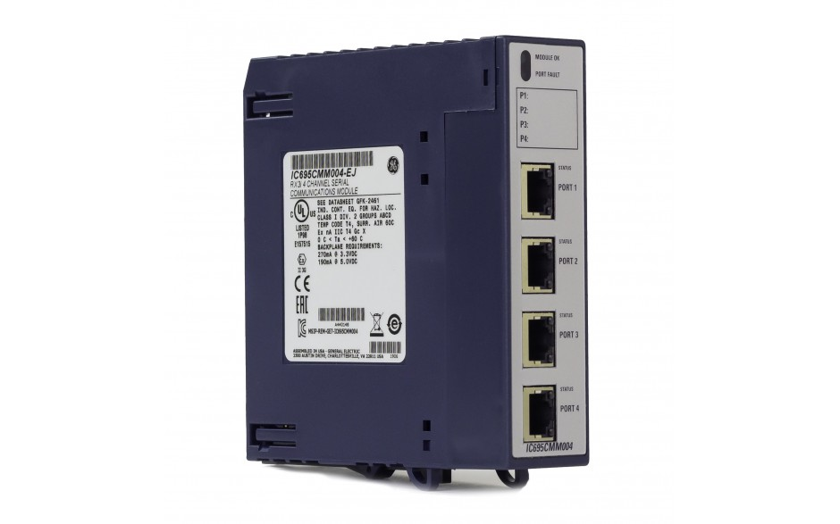 RX3i - Moduł komunikacyjny 4x RS232/422/485; izolowane porty; Modbus RTU Master/Slave; Serial I/O; DNP 3.0