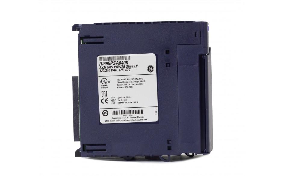RX3i - Zasilacz do kasety bazowej RX3i 240 VAC; 40W 4