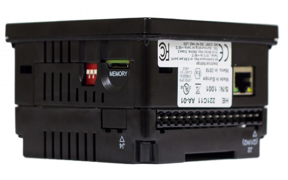 "Sterownik PLC z HMI EXLt - 3.5"", Ethernet; 12 DI (24V; 4 HSC); 12 DO (24V; 2 PWM); 6 AI (0-10V; 0-20mA; 4-20mA; RTD; THM); 4 AO (0-10V; 0-20mA; 4-20mA) 3"