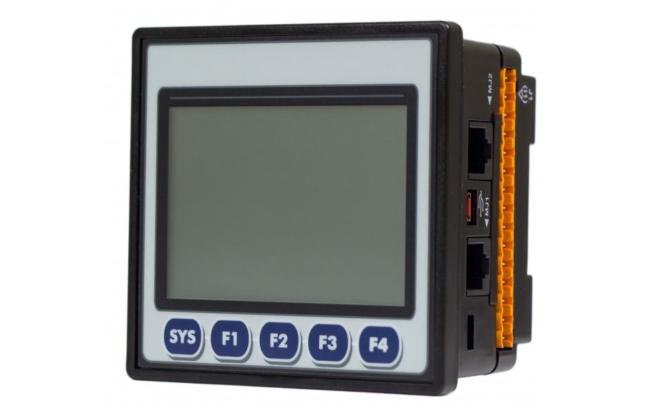 "Sterownik PLC z HMI EXLt - 3.5"",  Ethernet; 12 DI (24V; 4 HSC); 6 DO (przekaźnik 2A); 4 AI (0-10V; 0-20mA; 4-20mA)"