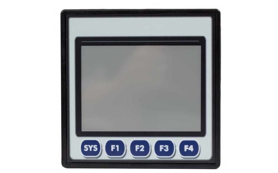 "Sterownik PLC z HMI EXLt - 3.5"",  Ethernet; 12 DI (24V; 4 HSC); 6 DO (przekaźnik 2A); 4 AI (0-10V; 0-20mA; 4-20mA) 5"