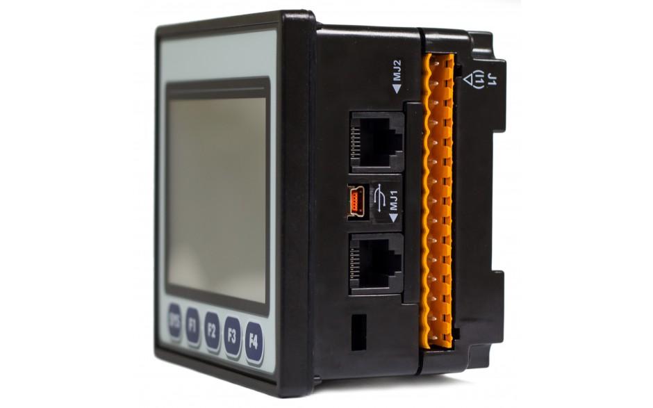 "Sterownik PLC z HMI EXLt - 3.5"", Ethernet; 12 DI (24V; 4 HSC); 12 DO (24V; 2 PWM); 6 AI (0-10V; 0-20mA; 4-20mA; RTD; THM); 4 AO (0-10V; 0-20mA; 4-20mA) 7"