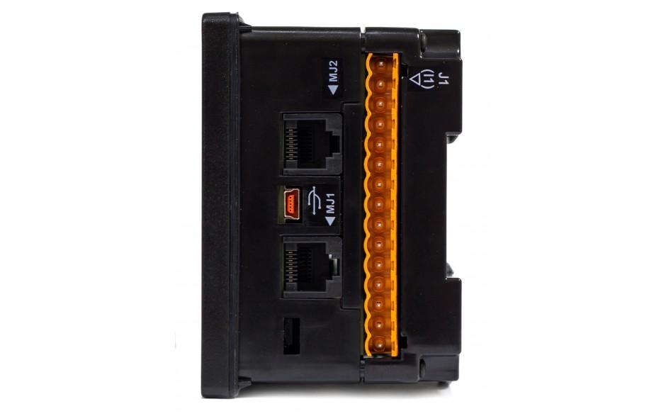 "Sterownik PLC z HMI EXLt - 3.5"",  Ethernet; 12 DI (24V; 4 HSC); 6 DO (przekaźnik 2A); 4 AI (0-10V; 0-20mA; 4-20mA) 7"