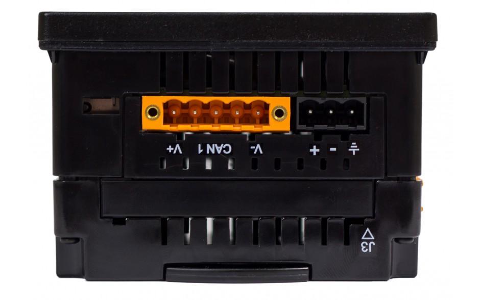"Sterownik PLC z HMI EXLt - 3.5"", Ethernet; 12 DI (24V; 4 HSC); 12 DO (24V; 2 PWM); 2 AI (0-10V; 0-20mA; 4-20mA; RTD; THM); 2 AO (0-10V; 0-20mA; 4-20mA) 11"