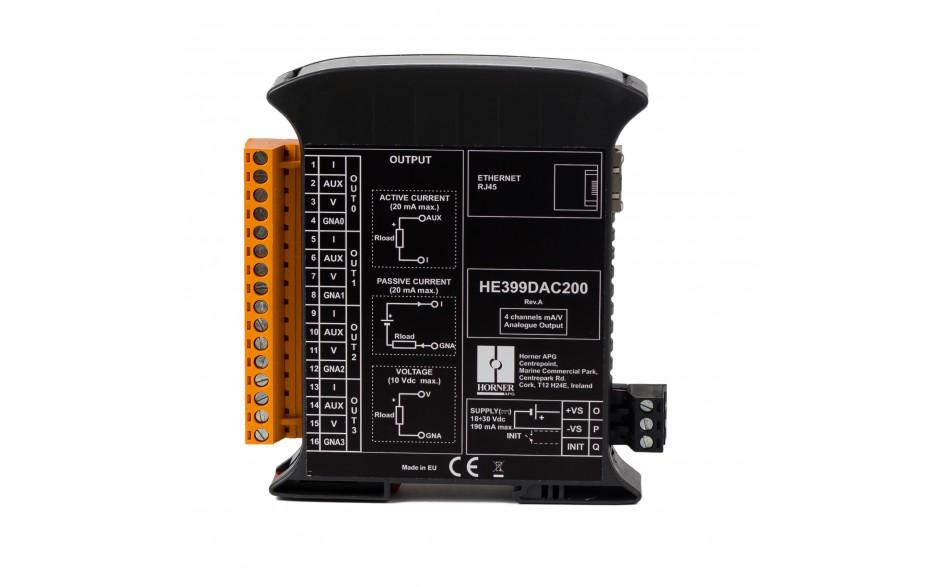 SmartMod PLUS I/O; 4 izolowane wyjścia analogowe (0-20 mA, 0-10 V); 16 bitów; Modbus TCP 3