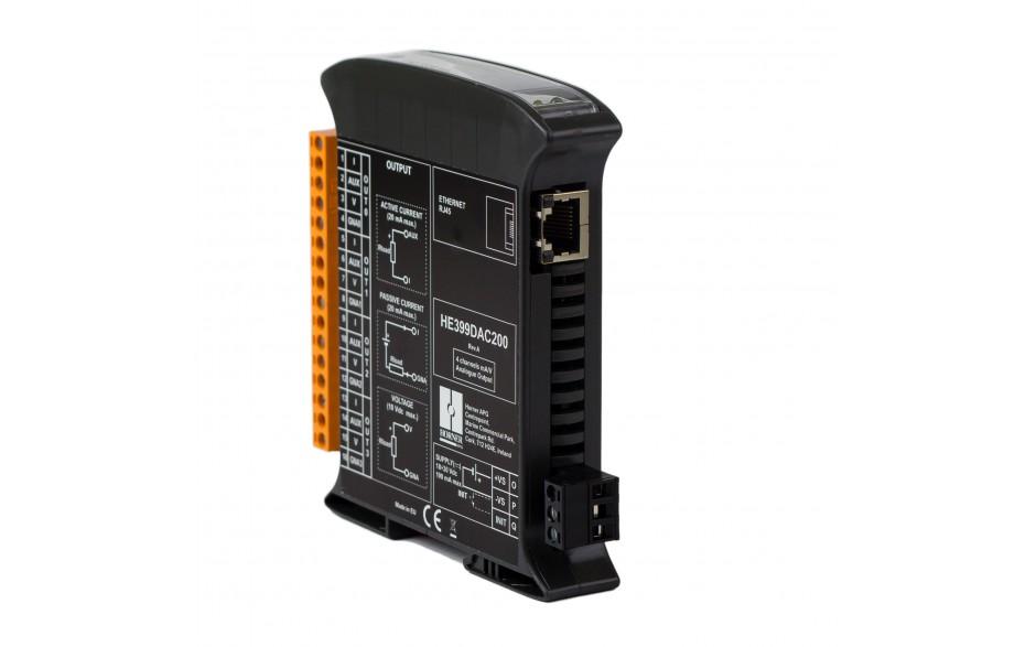 SmartMod PLUS I/O; 4 izolowane wyjścia analogowe (0-20 mA, 0-10 V); 16 bitów; Modbus TCP
