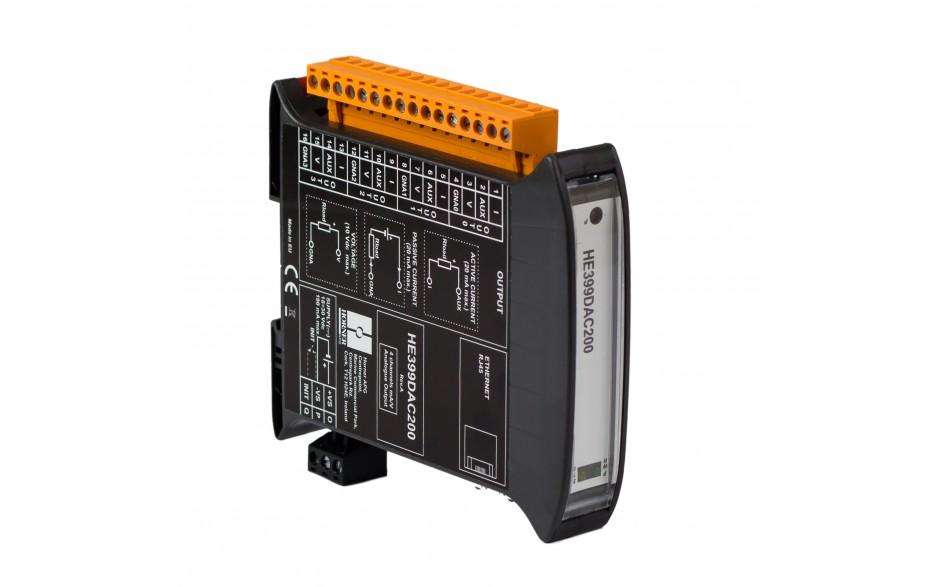 SmartMod PLUS I/O; 4 izolowane wyjścia analogowe (0-20 mA, 0-10 V); 16 bitów; Modbus TCP 6