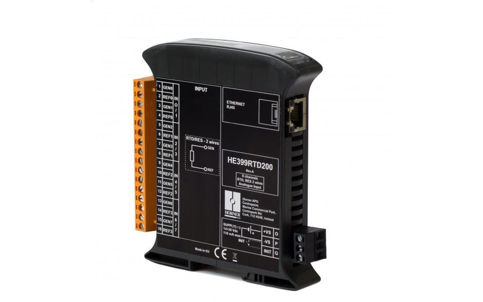 SmartMod PLUS I/O; 8 wejść RTD (Pt100, Pt1000, Ni100, Ni1000); rozdzielczość 16 bitów; Modbus TCP