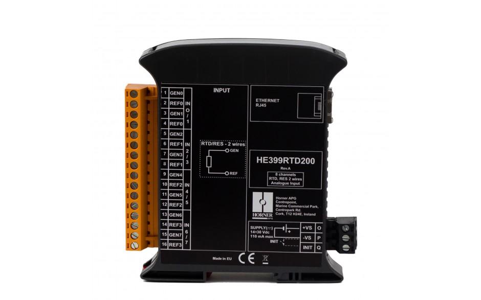 SmartMod PLUS I/O; 8 wejść RTD (Pt100, Pt1000, Ni100, Ni1000); rozdzielczość 16 bitów; Modbus TCP 7