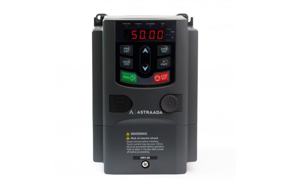 Falownik trójfazowy wektorowy 2.2 kW, filtr EMC, funkcje wentylatorowo-pompowe