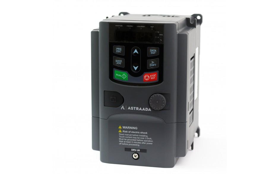 Falownik trójfazowy wektorowy 0.75 kW, filtr EMC, funkcje wentylatorowo-pompowe 2