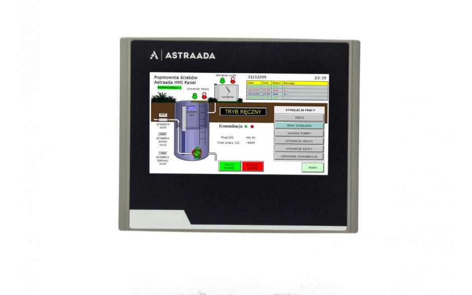 "Dotykowy panel operatorski Astraada HMI, matryca TFT 4,3"" (480x272, 65k), RS232/422/485, RS232, USB Client/Host 2"