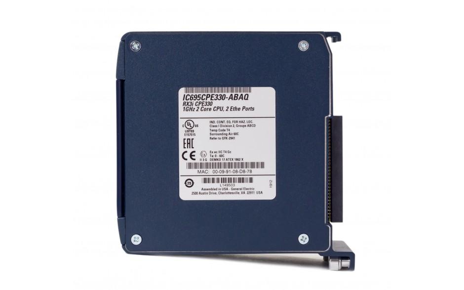 RX3i - CPU 64 MB RAM/FLASH; 1 GHz Dual Core; 2x Ethernet Gb; 1x USB; 1x Cfast; Energy Pack 4