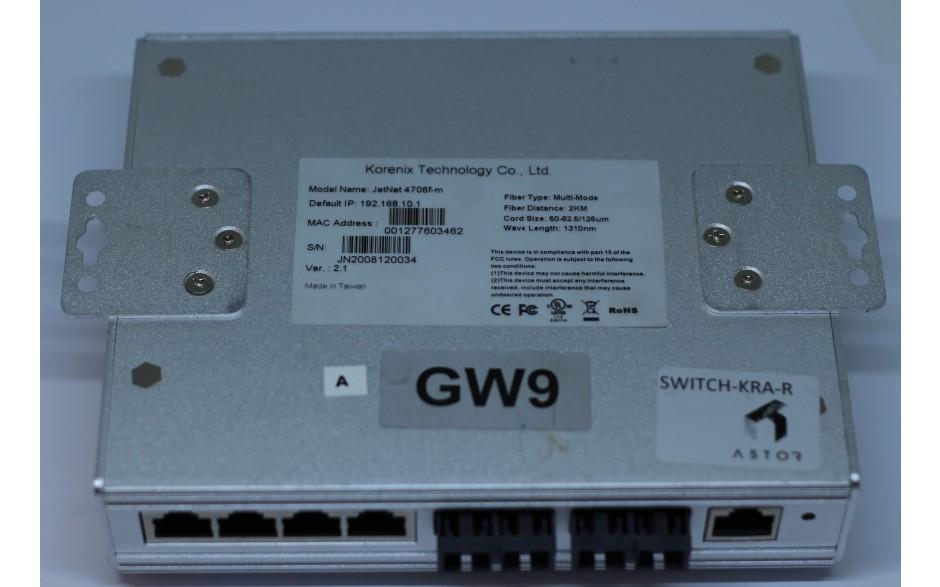Wyprzedaż - Switch Ethernetowy 6-portowy (4 x PoE + 2 złącza SC MultiMode), zarządzalny SNMP, SuperRing 2