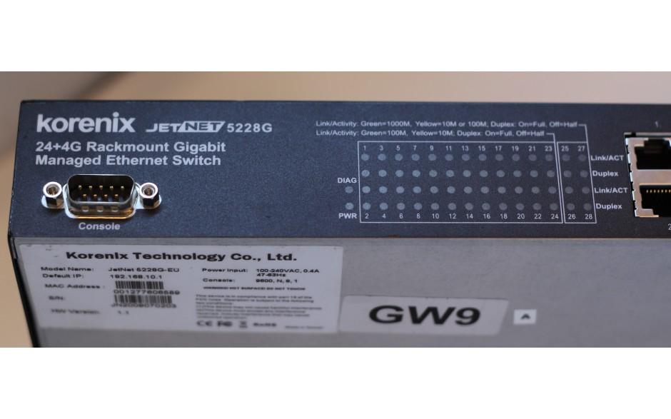 """Wyprzedaż - 24+4G Zarządzalny switch ethernetowy do montażu w szafie rack 19"""", 4 porty RJ45/SFP Combo"""