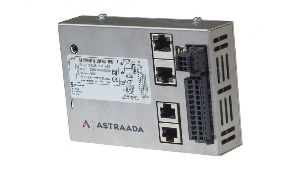 Astraada One ECC2100 - 4DI, 4DO, 4AI, web server, RS232/485, CAN, EtherCAT, Modbus RTU/TCP 4
