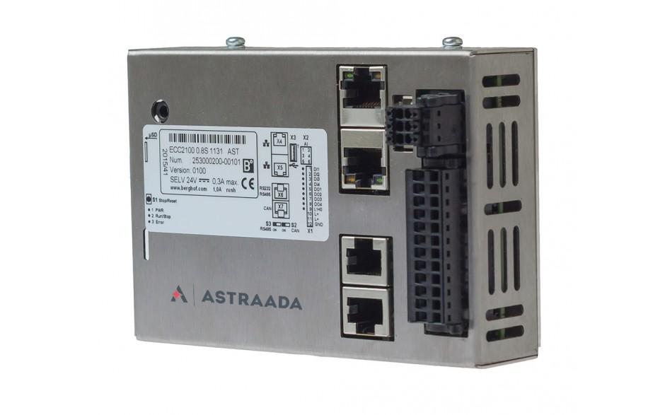 Astraada One ECC2100 - 4DI, 4DO, 4AI, web server, RS232/485, CAN, Ethernet, EtherCAT, Modbus RTU/TCP