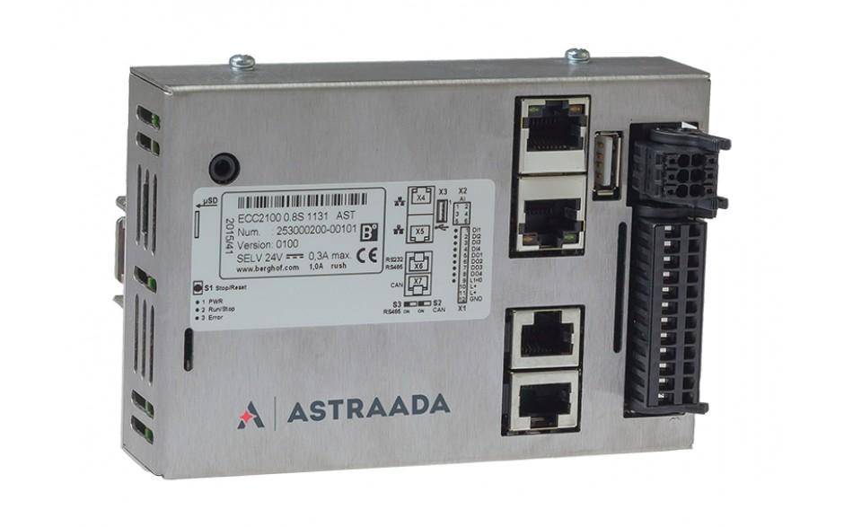 Astraada One ECC2100 - 4DI, 4DO, 4AI, web server, RS232/485, CAN, Ethernet, EtherCAT, Modbus RTU/TCP 3