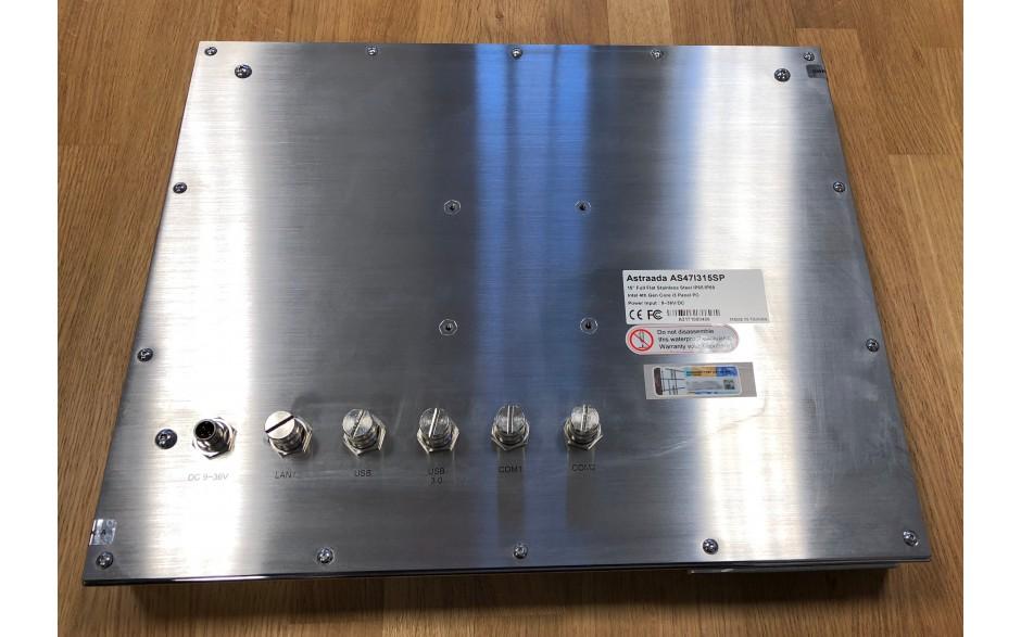 """Astraada HMI Panel PC 15"""" i3, 4GB RAM, HDD 320GB, Win 7, Obudowa ze stali nierdzewnej IP69K, ekran pojemnościowy 3"""