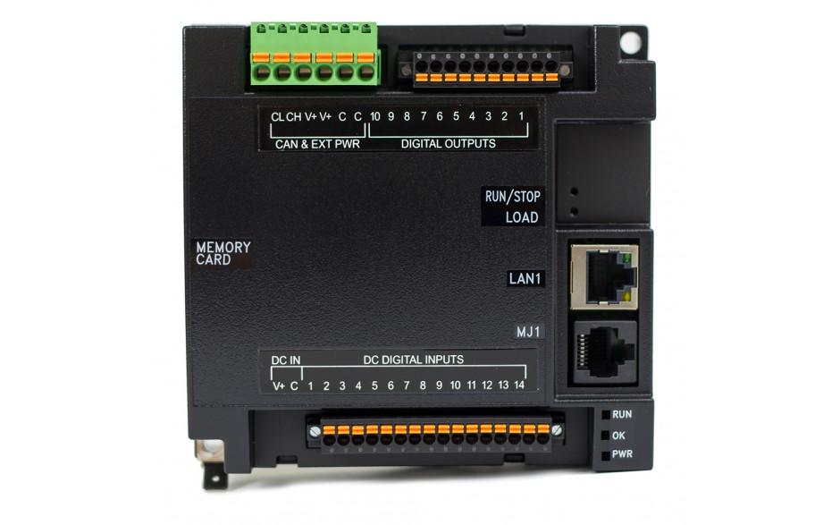 Sterownik PLC RCC1410; RS232, RS485, Ethernet, CsCAN, MicroSD;  14x DI, 10x DO 24 VDC; zasilanie 9-30 VDC 5