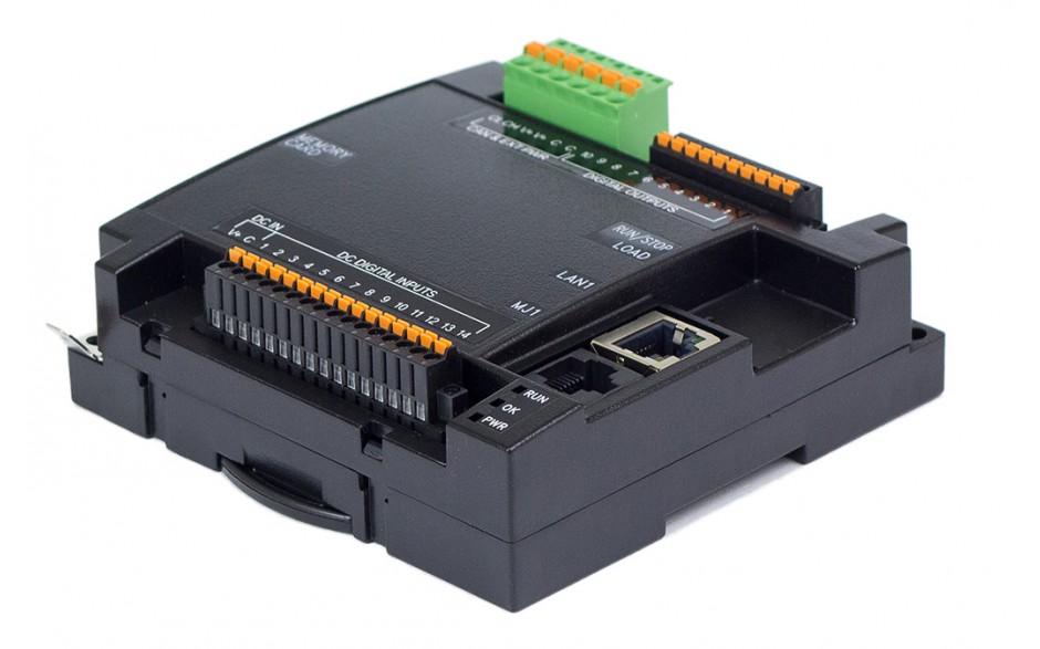 Sterownik PLC RCC1410; RS232, RS485, Ethernet, CsCAN, MicroSD;  14x DI, 10x DO 24 VDC; zasilanie 9-30 VDC 3