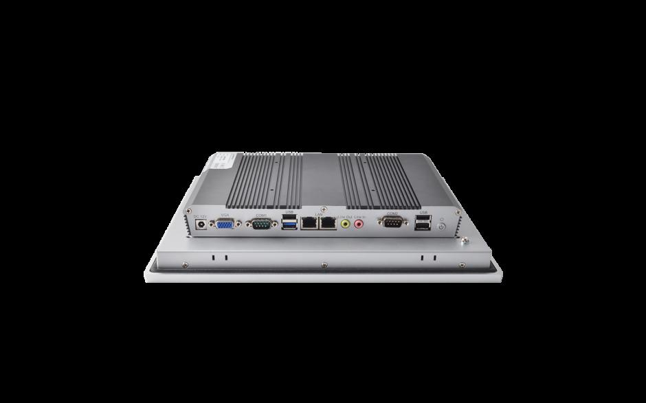 """Przemysłowy komputer panelowy 12"""", dotykowy pojemnościowy, 1024*768, wersja STANDARD, Intel Celeron J1900, 4GB RAM, mSATA SSD 128 GB, WIN10-IOT Ent LTSB 2019 , 2x RS232, 4x USB, 2x Intel Gigalan, VGA, zasilanie 12VDC z zasilaczem 3"""