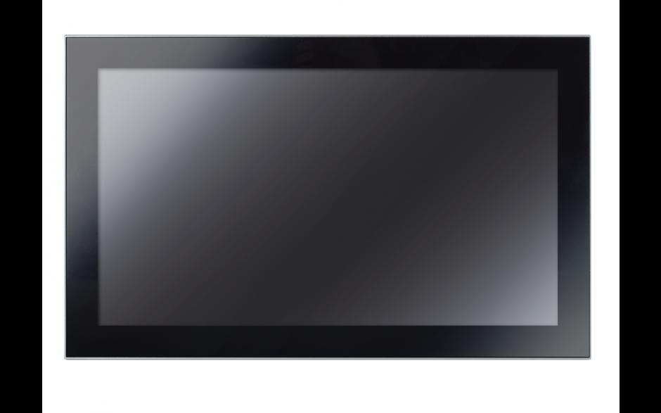 """Przemysłowy komputer panelowy 21,5"""", dotykowy pojemnościowy, 1920*1080, wersja STANDARD, Intel Celeron J1900, 4GB RAM, mSATA SSD 128 GB, WIN10-IOT Ent LTSB 2019 , 2x RS232, 4x USB, 2x Intel Gigalan, VGA, zasilanie 12 VDC z zasilaczem 4"""