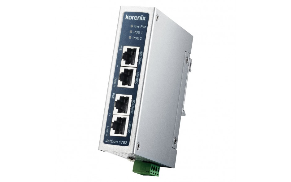 Astraada NET - Konwerter PoE/Ethernet, switch, 2xRJ45  (10/100/1000 Base-TX, PoE) + 2xRJ45 (10/100/1000 Base-TX), zasilanie 48 VDC, -40...+70C