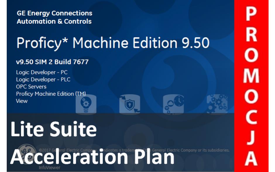 Licencja Proficy Machine Edition Lite Suite wer. 9.5 z pakietem Acceleration Plan. Promocja na jednorazowy zakup oprogramowania.