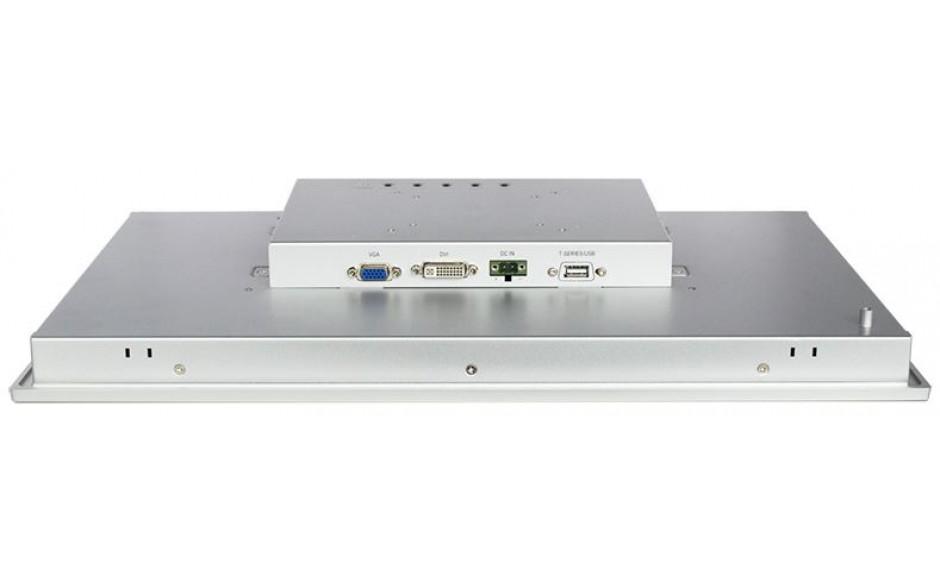 """Przemysłowy monitor dotykowy LED, ekran pojemnościowy 18.5"""", 1366*768, złącza: DVI/VGA, port USB, zasilanie 12VDC z zasilaczem biurkowym w zestawie 2"""