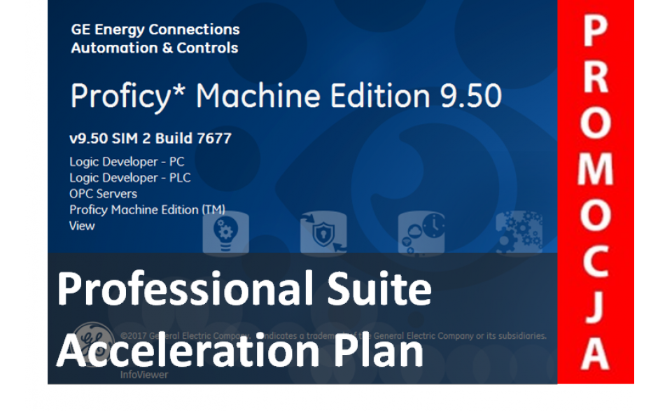 Licencja Proficy Machine Edition Professional Suite wer. 9.5 z pakietem Acceleration Plan. Promocja na jednorazowy zakup oprogramowania.