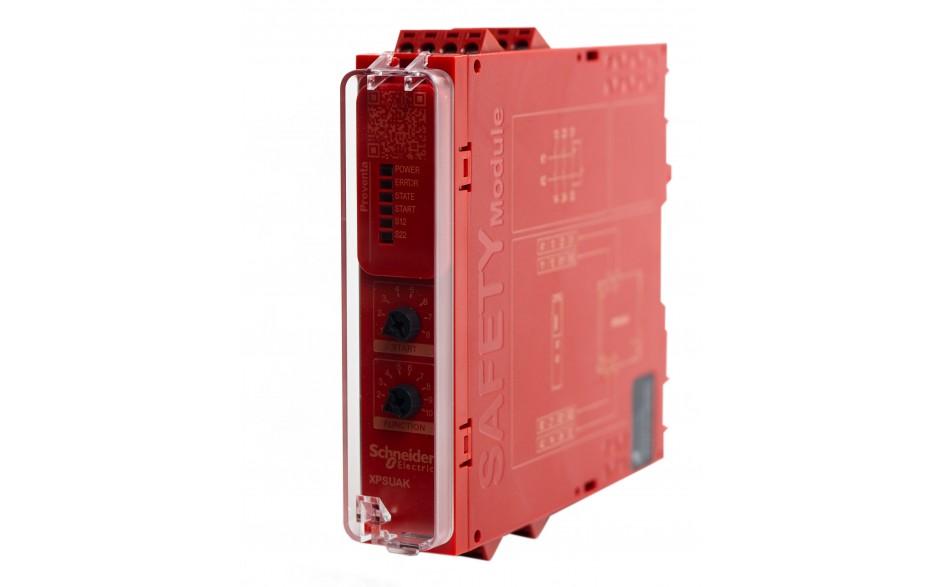 Moduł bezpieczeństwa Schneider Electric Preventa XPSUAK12AP, kat.4, 24 V AC/DC, 2 NO + 1 NC, zaciski śrubowe, 3 lata gwarancji