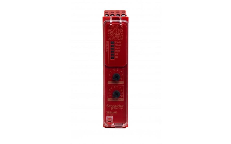 XPSUAK12AP - Moduł bezpieczeństwa Schneider Electric Preventa Universal XPSU, kat.4, 24 V AC/DC, 2 NO + 1 NC, zaciski śrubowe, 3 lata gwarancji 3