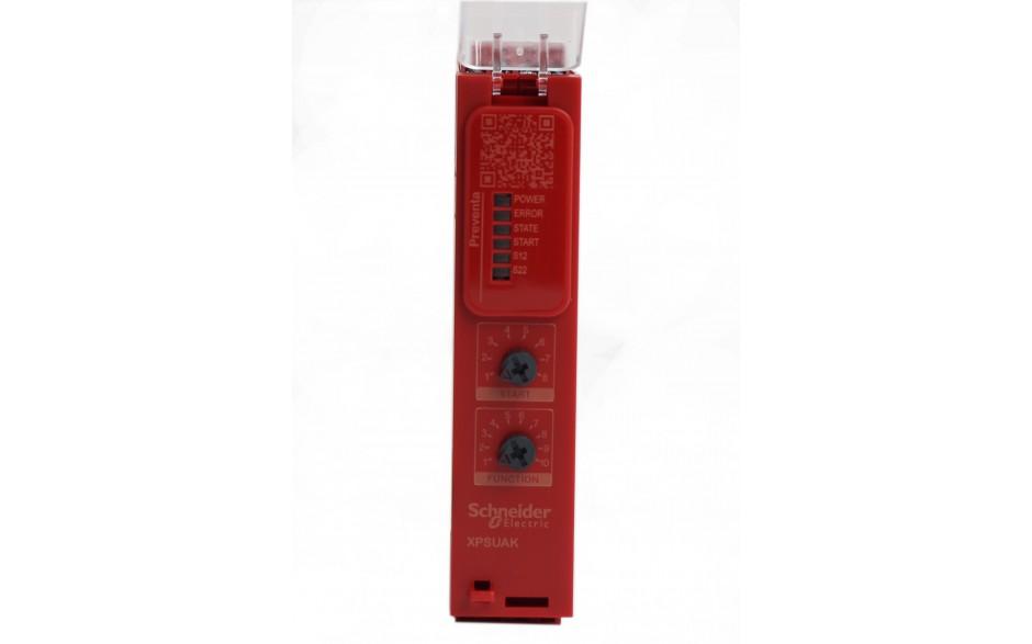 XPSUAK12AP - Moduł bezpieczeństwa Schneider Electric Preventa Universal XPSU, kat.4, 24 V AC/DC, 2 NO + 1 NC, zaciski śrubowe, 3 lata gwarancji 4