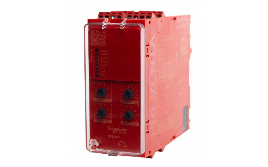 Moduł bezpieczeństwa Schneider Electric Preventa XPSUAT13A3AP, kat.4, 24 V AC/DC, 3 NO + 3 NO + 1 NC, zaciski śrubowe, 3 lata gwarancji