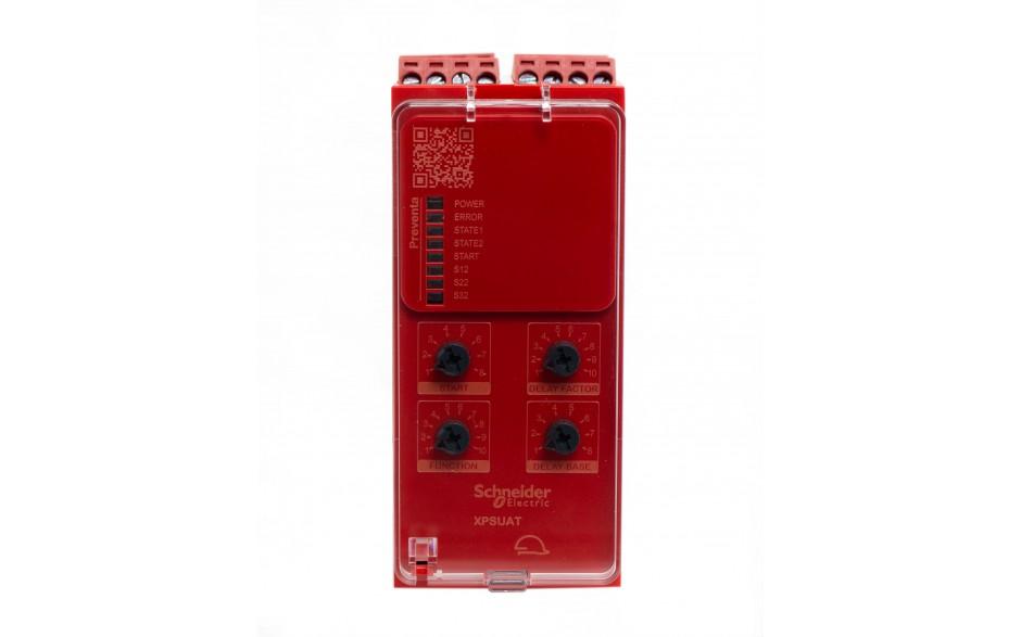Moduł bezpieczeństwa Schneider Electric Preventa XPSUAT13A3AP, kat.4, 24 V AC/DC, 3 NO + 3 NO + 1 NC, zaciski śrubowe, 3 lata gwarancji 2