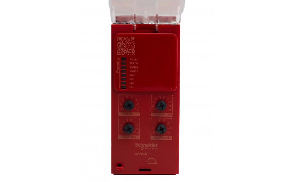 Moduł bezpieczeństwa Schneider Electric Preventa XPSUAT13A3AP, kat.4, 24 V AC/DC, 3 NO + 3 NO + 1 NC, zaciski śrubowe, 3 lata gwarancji 4