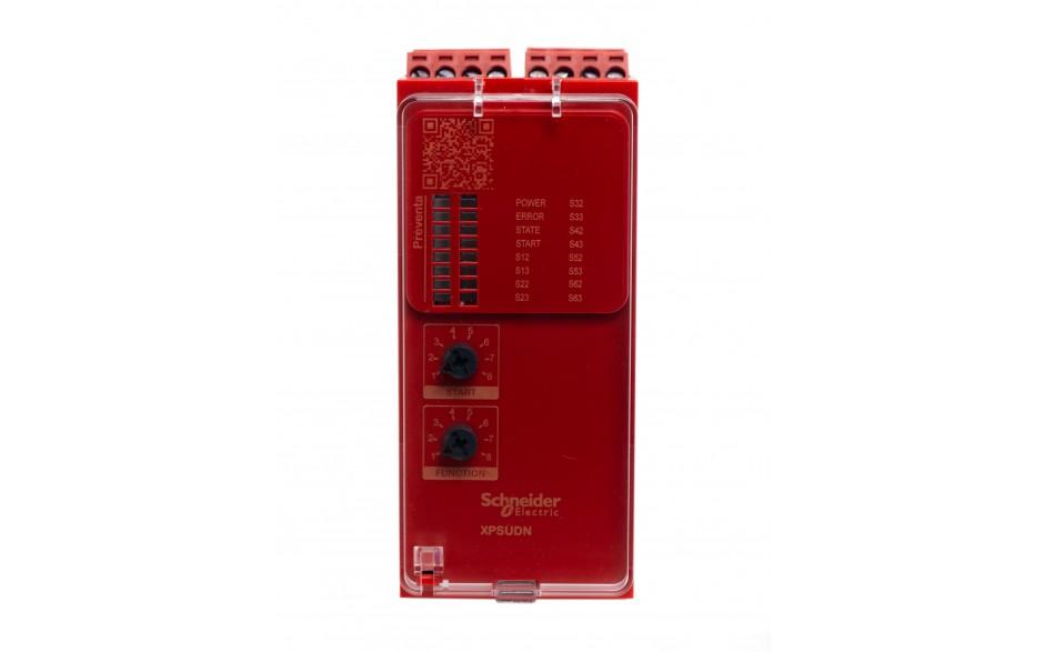 XPSUDN13AP - Moduł bezpieczeństwa Schneider Electric Preventa Universal XPSU, kat.4, 24 V AC/DC, 3 NO + 1 NC, zaciski śrubowe, 3 lata gwarancji 2