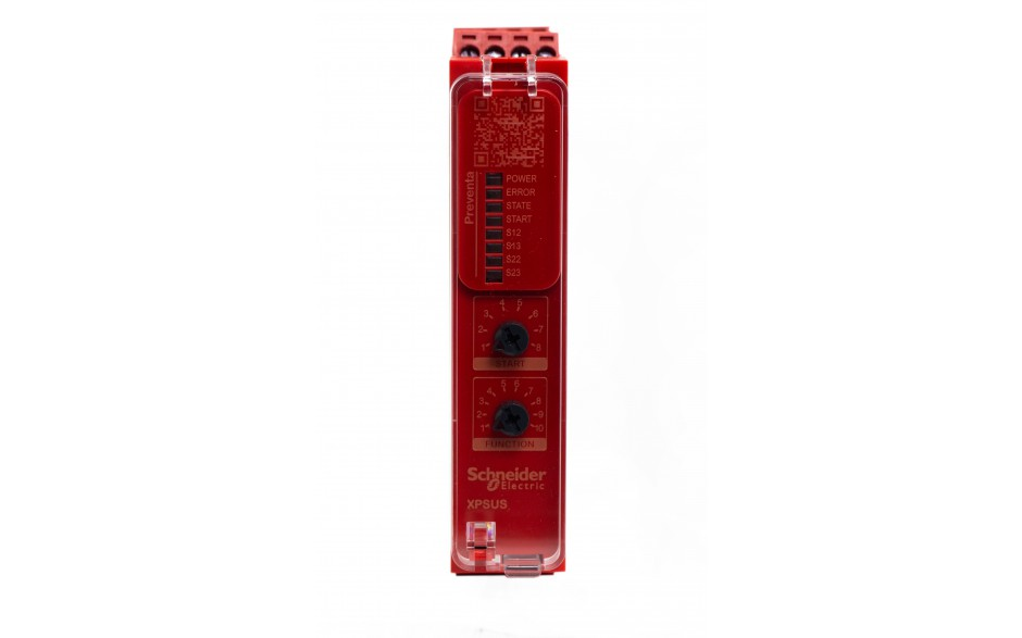 Moduł bezpieczeństwa Schneider Electric Preventa XPSUS12AP, kat.4, 24 V AC/DC, 2 NO, zaciski śrubowe, 3 lata gwarancji 2