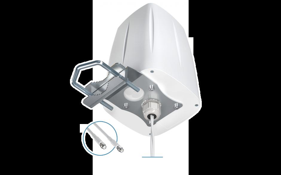 ANTENA 2G/3G/4G LTE Wielopasmowa zewnętrzna antena MIMO , dookólna z dwoma kablami 5mm i złączem SMA na pasma LTEGG 2