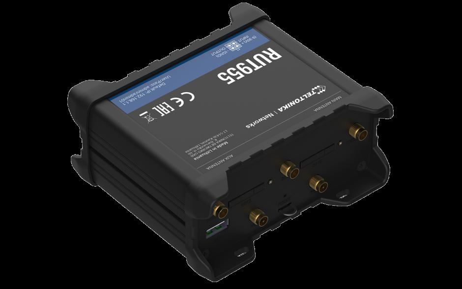 RUT955 - Router przemysłowy 4G (LTE); Ethernet; RS232/485; 128MB RAM; DUAL SIM; SMS; IPSec; openVPN; WiFi; montaż na szynie DIN 2