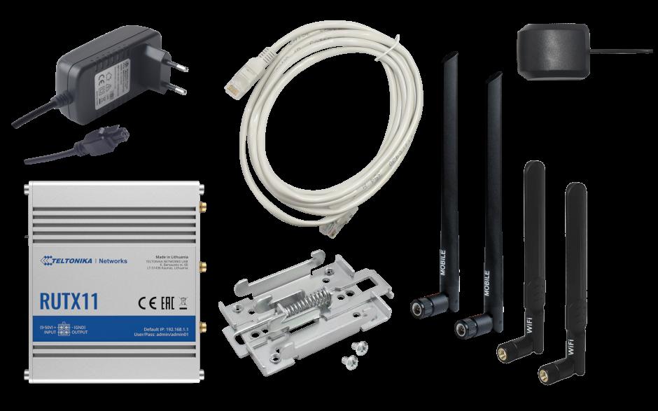 RUTX11 - Router przemysłowy 4G (LTE); Ethernet; 256 MB RAM; DUAL SIM; Bluetooth; SMS; IPSec; openVPN; WiFi; montaż na szynie DIN 5