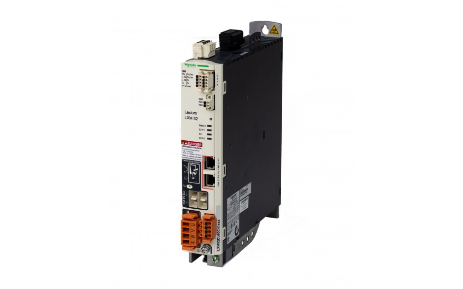 Serwonapęd Lexium 52; moc 3kW; prąd pracy ciągłej 10A; sterowanie Sercos 2