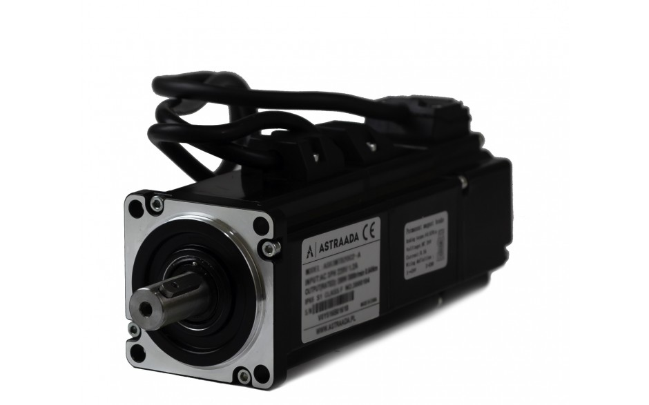 Serwosilnik o mocy 0.4kW (1.27Nm), zasilanie 230V, enkoder inkrem., prędkość znam. 3000rpm, wym. kołnierza 60mm