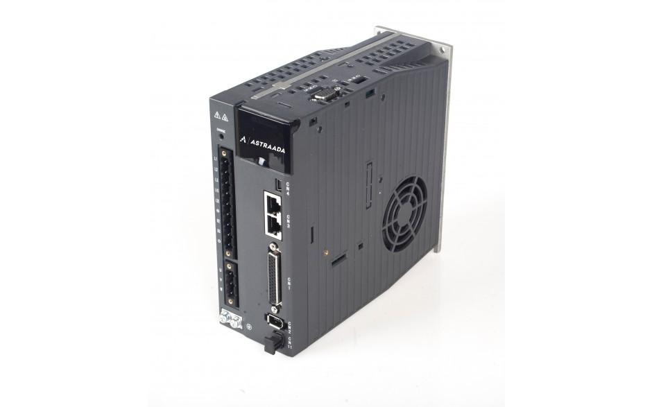 Serwowzmacniacz SRV-64 o mocy 1,5 kW, zasilanie 230V, sterowanie Modbus RTU, imp. Puls/Direction, Analog, STO (SIL 2), 24 miesiące gwarancji.