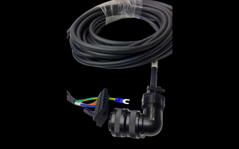 Kabel zasilający 20m do silników - 1kW, 230V; 2…3kW, 400V z enkoderem absolutnym, - 1…3.8kW, 400V z enkoderm inkrem 2