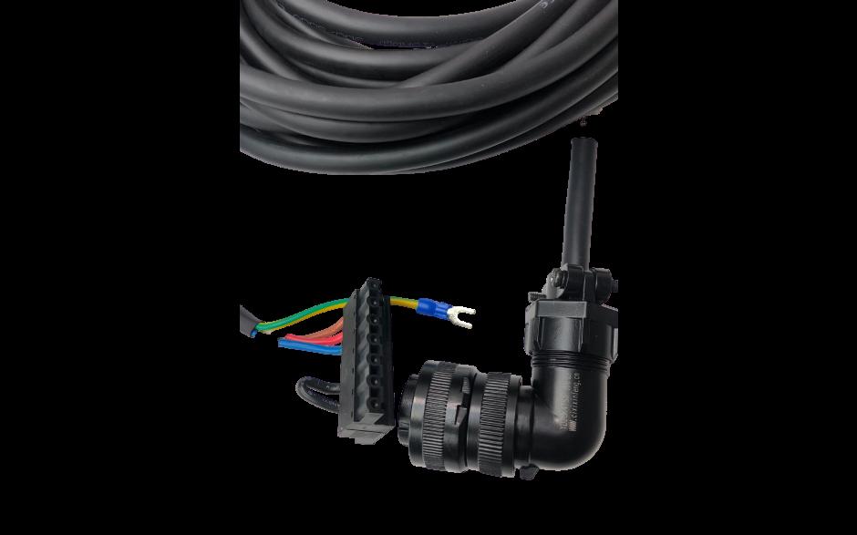 Wyprzedaż - Kabel zasilający 20m do silników - 1kW, 230V; 2…3kW, 400V z enkoderem absolutnym, - 1…3.8kW, 400V z enkoderm inkrem