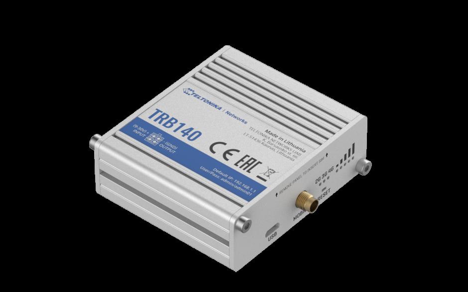 TRB140 - Gateway komórkowy 4G (LTE); Ethernet; 128MB RAM; SMS; IPSec; openVPN; możliwy montaż na szynie DIN 2
