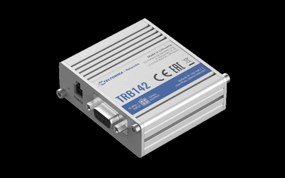 TRB142 - Gateway komórkowy 4G (LTE); RS232; 128MB RAM; SMS; IPSec; openVPN; możliwy montaż na szynie DIN 2
