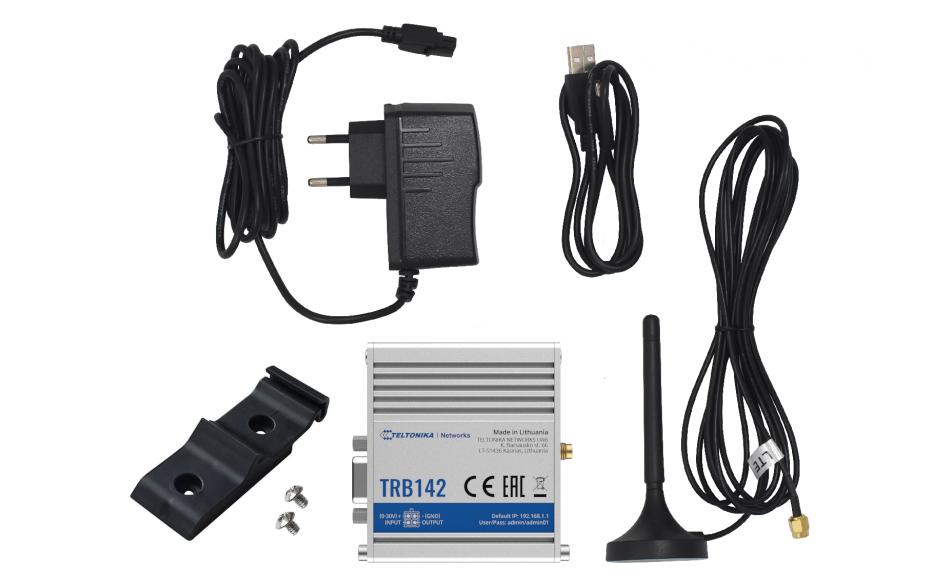 TRB142 - Gateway komórkowy 4G (LTE); RS232; 128MB RAM; SMS; IPSec; openVPN; możliwy montaż na szynie DIN 6